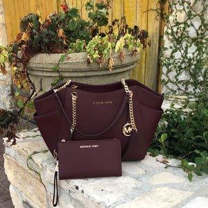 NWT Michael Kors Jet Set Chain handbag&wallet